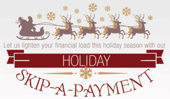 holiday skip  payment pse credit union